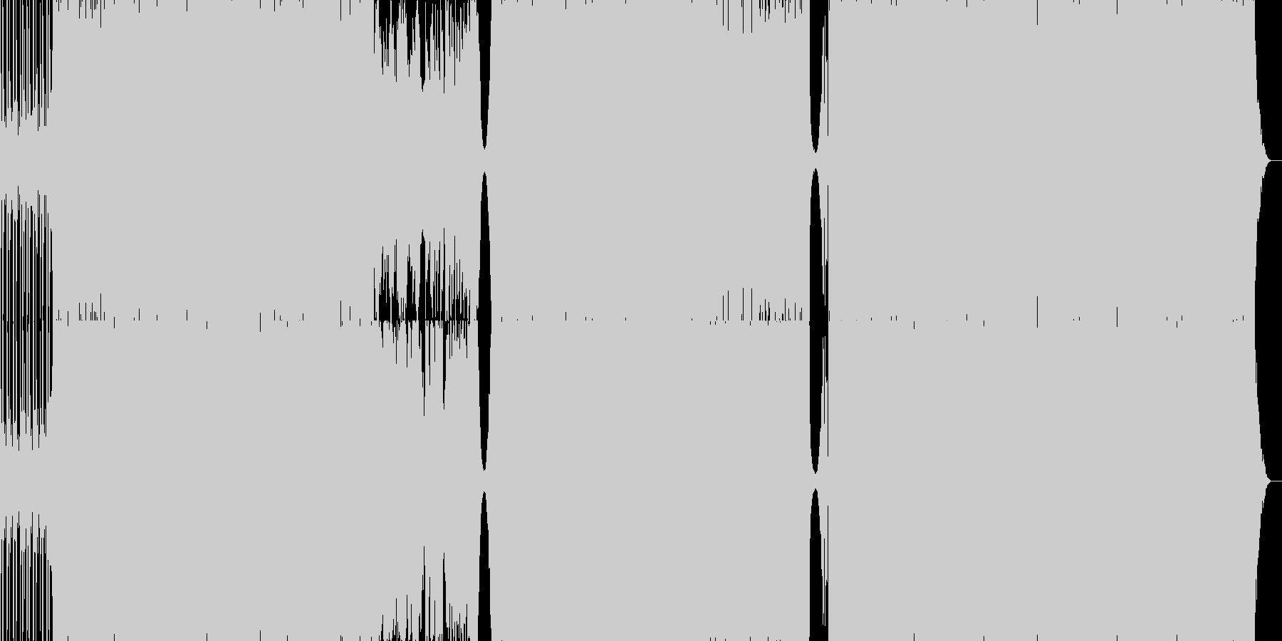 セツナ系カッコいいクールなトランスBGMの未再生の波形