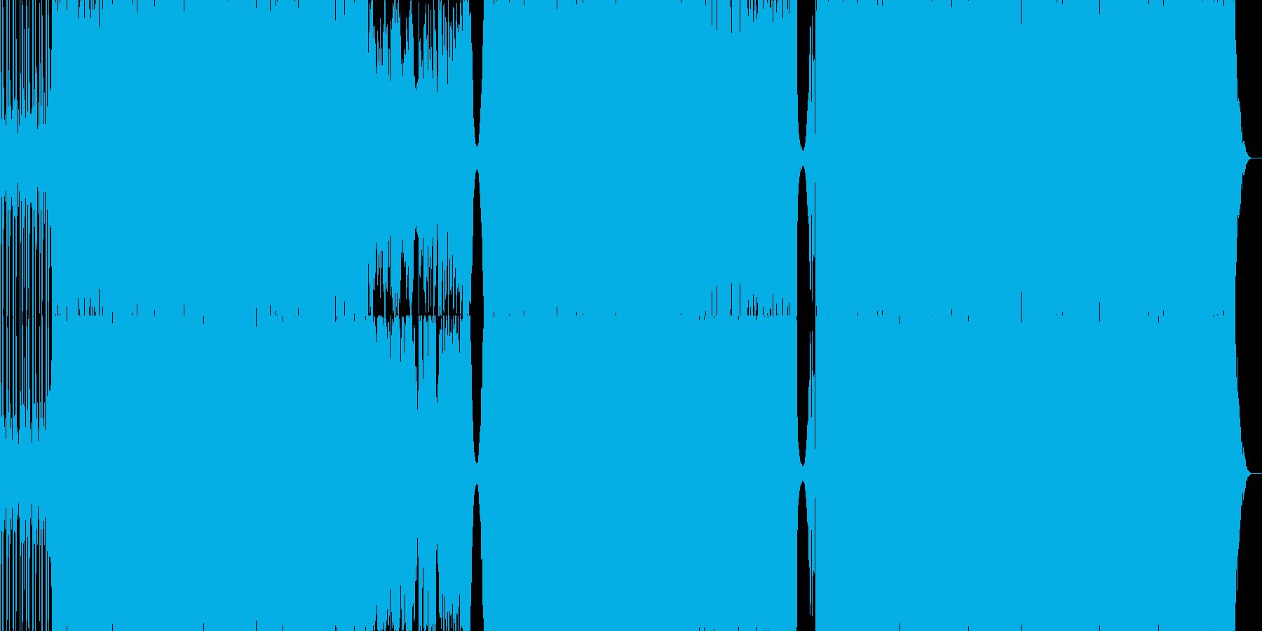 セツナ系カッコいいクールなトランスBGMの再生済みの波形