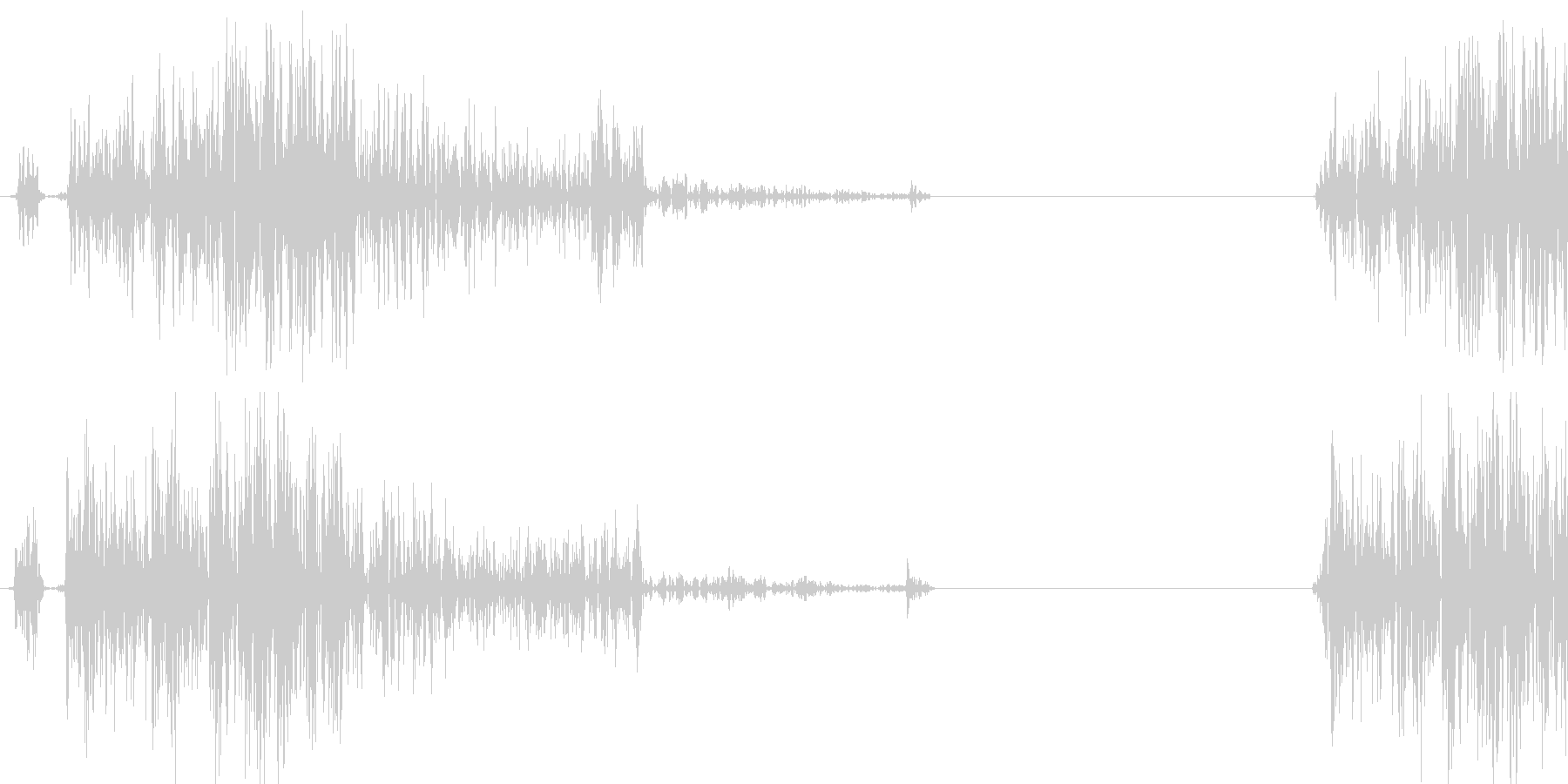 カチッ(時計音、文字の回転音等)の未再生の波形