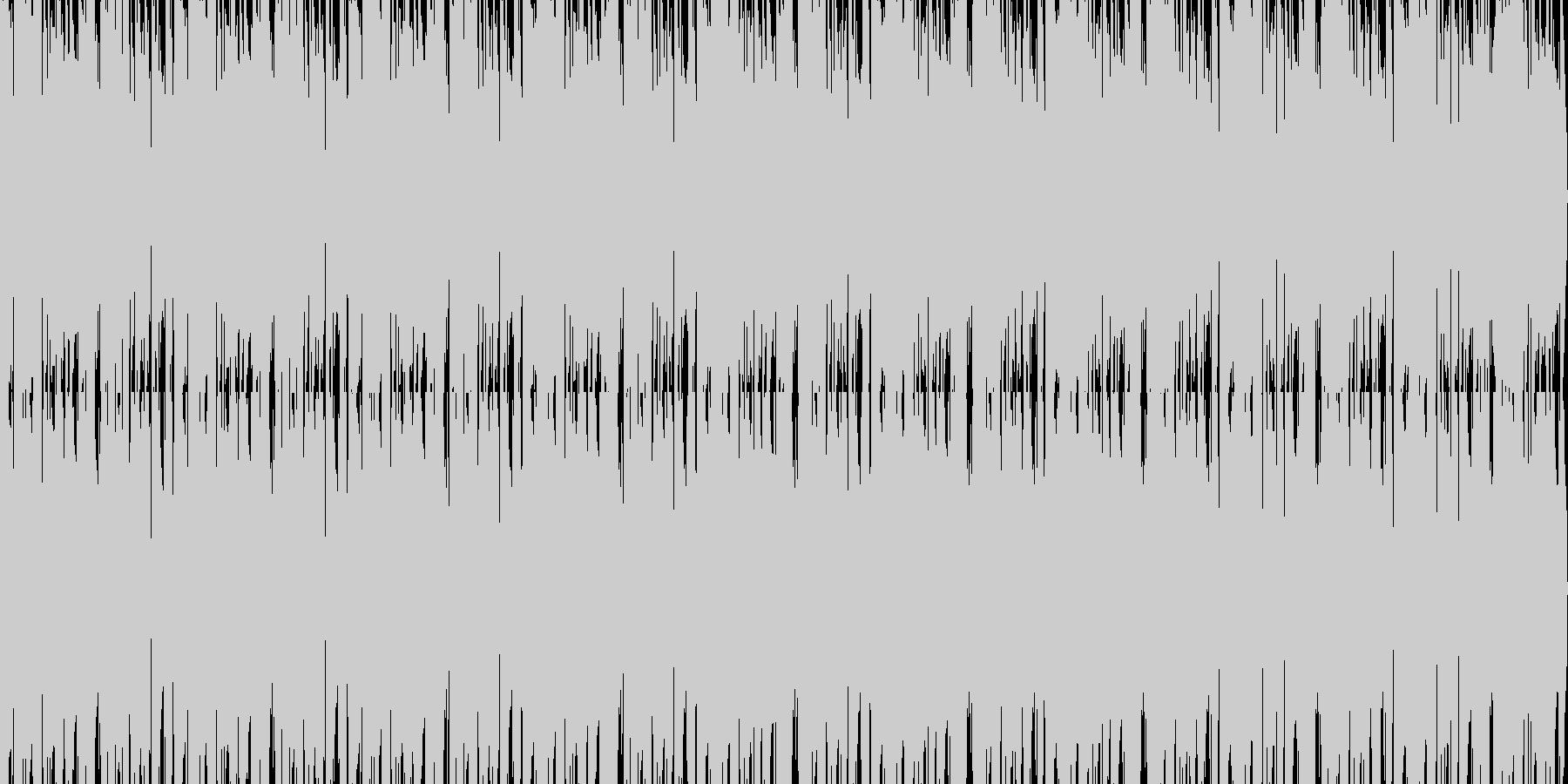 薄暗く怪しい雰囲気のループ系ジャズの未再生の波形