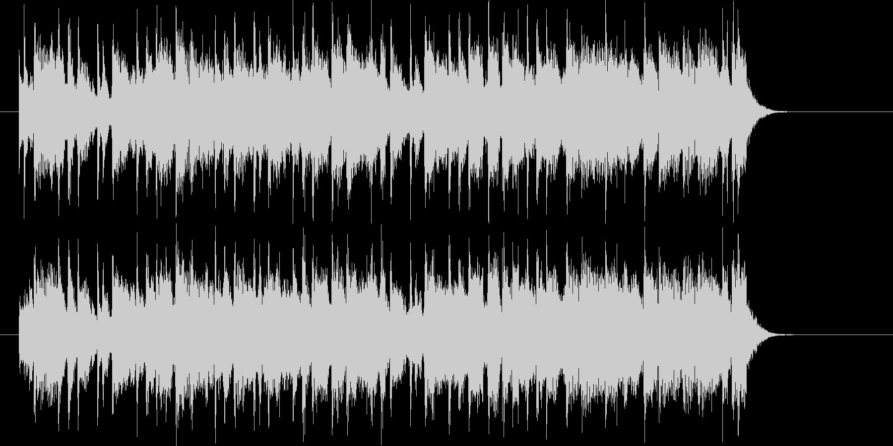 元気で明るいジングル曲、サウンドロゴの未再生の波形