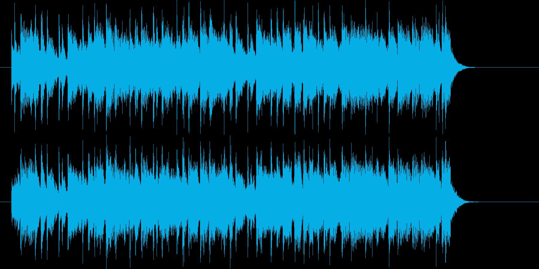 元気で明るいジングル曲、サウンドロゴの再生済みの波形