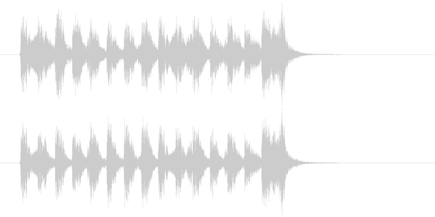 緩やかでコミカルなポップジングルの未再生の波形