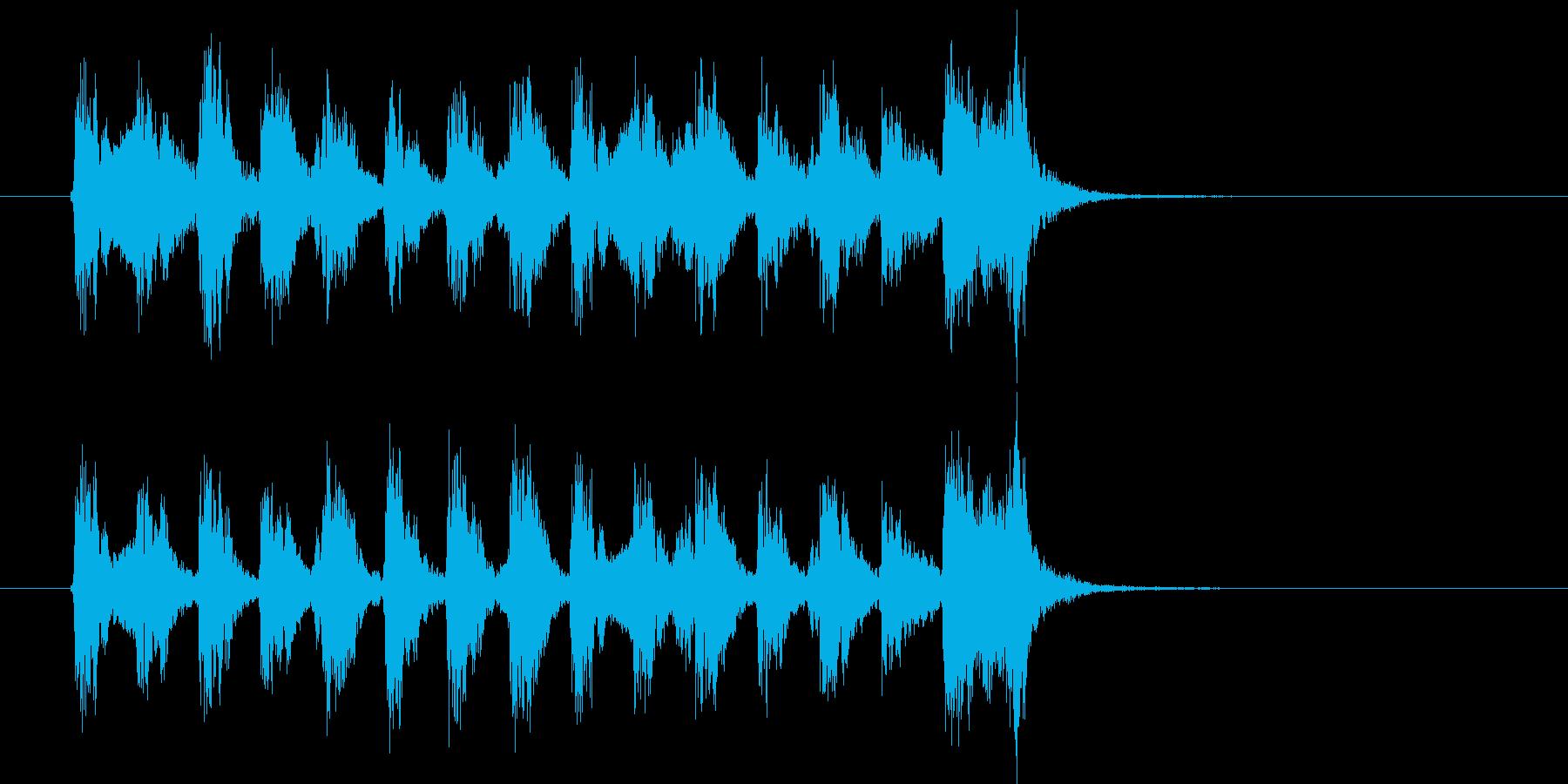 緩やかでコミカルなポップジングルの再生済みの波形