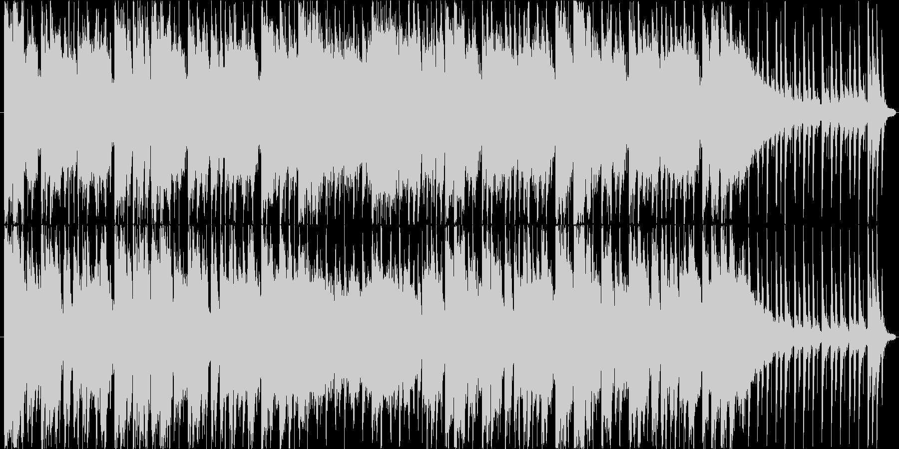 ブラスセクションとギターのロックの未再生の波形