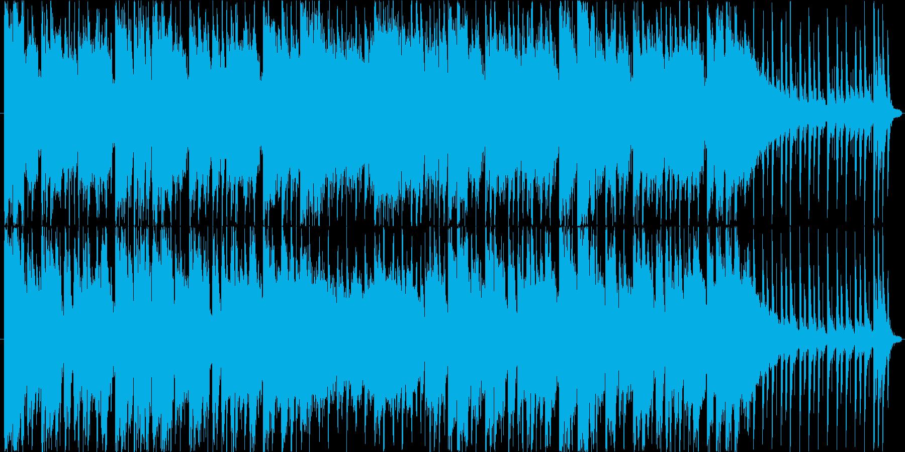 ブラスセクションとギターのロックの再生済みの波形