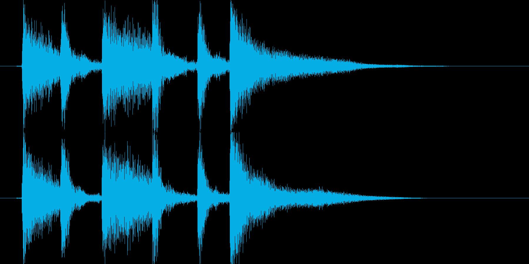 生ピアノで奏でるジャジーな効果音の再生済みの波形