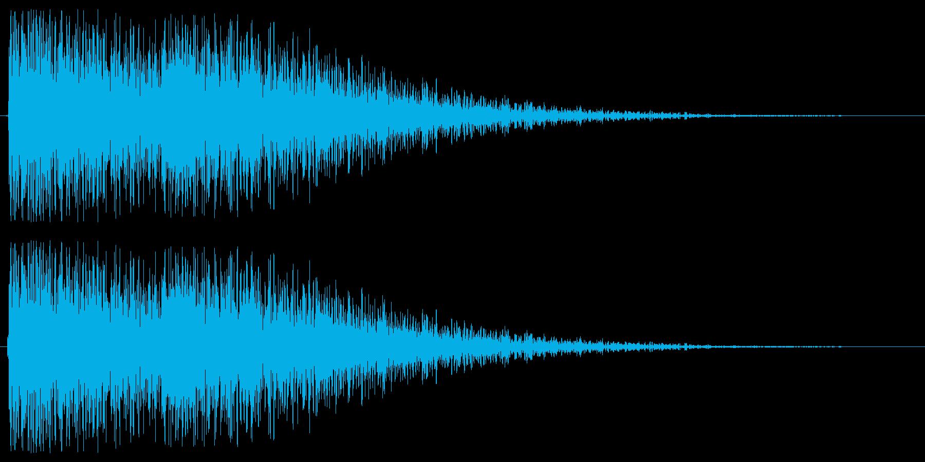 2種類のトーンで奏でる効果音の再生済みの波形