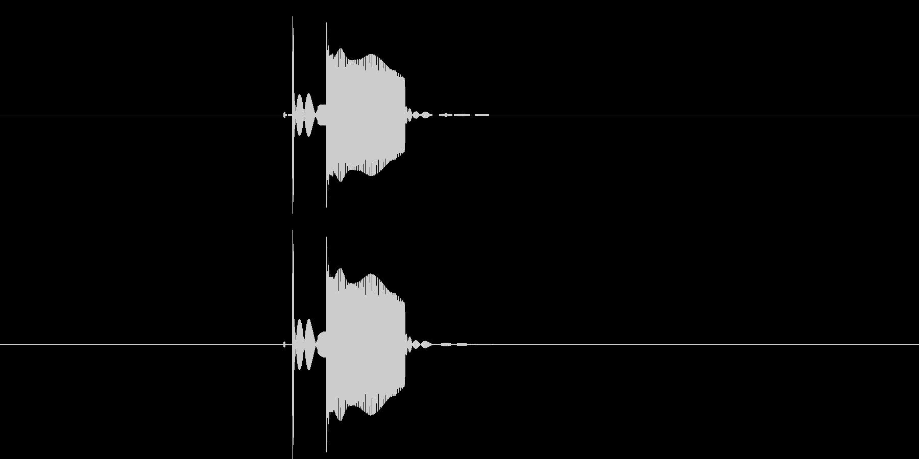 ピッ(ボタン、決定音)の未再生の波形