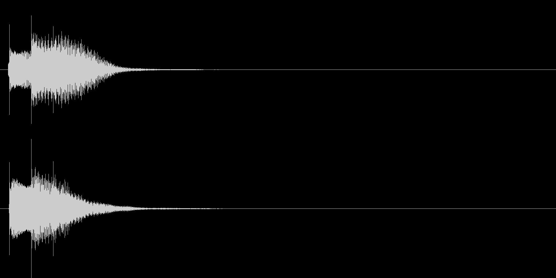 アラーム音01 グロッケン(sus4)の未再生の波形