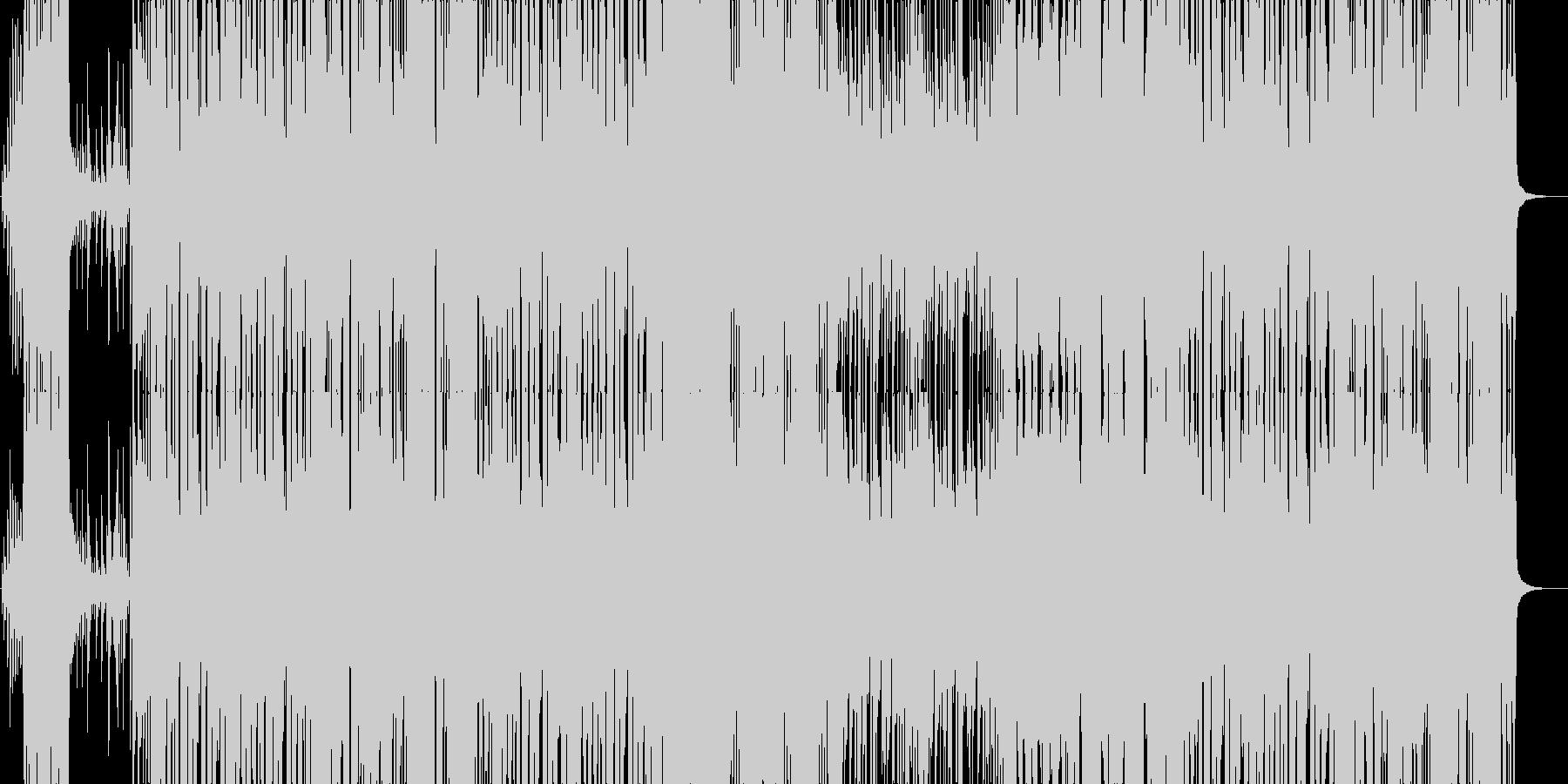 明るいアップテンポなポップスの未再生の波形