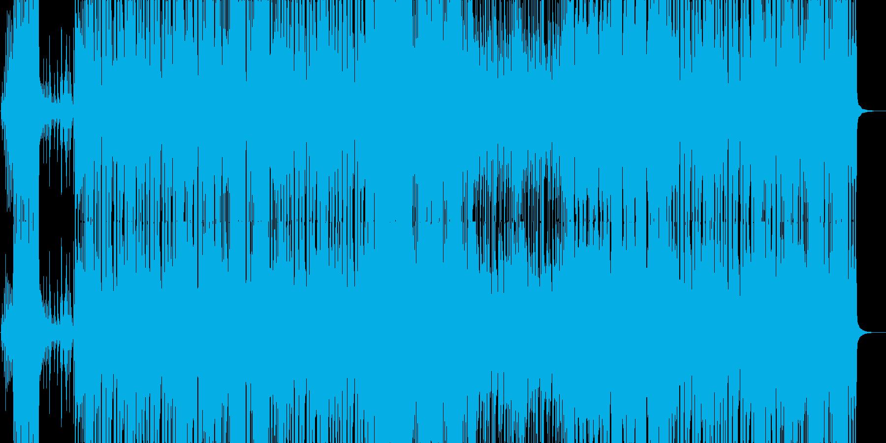明るいアップテンポなポップスの再生済みの波形