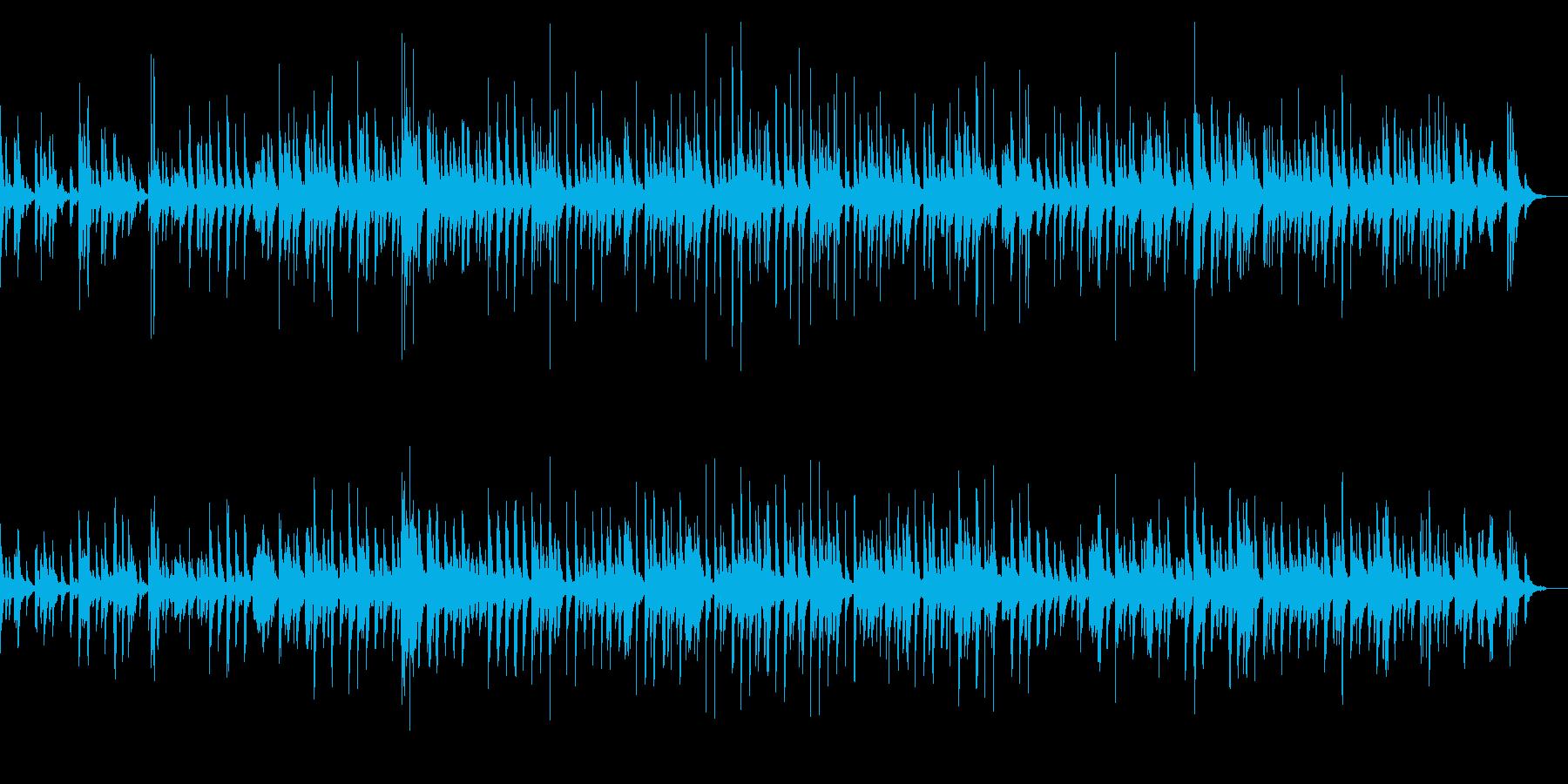 コミカルな弦楽四重奏のピッチカートBGMの再生済みの波形