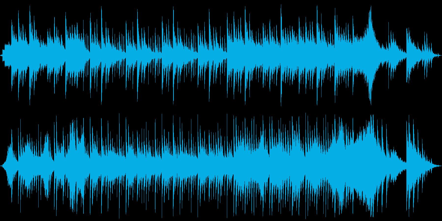 ピアノを使った和風で華やかなインストの再生済みの波形