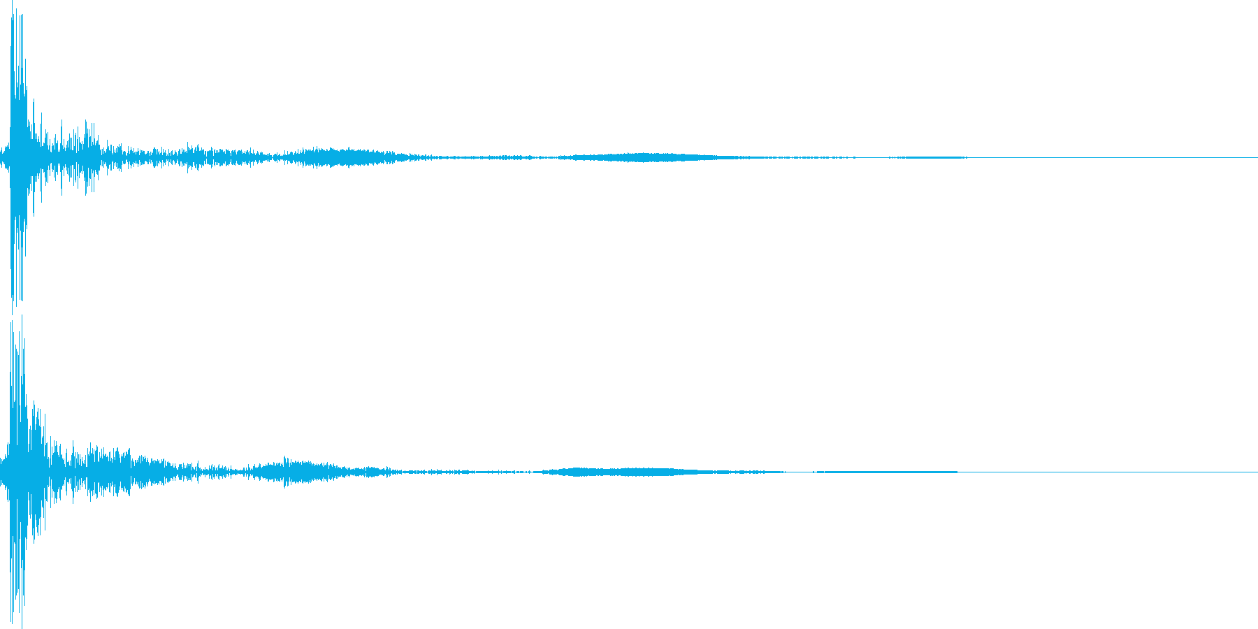電気のスイッチを入れる(パチッ)の再生済みの波形