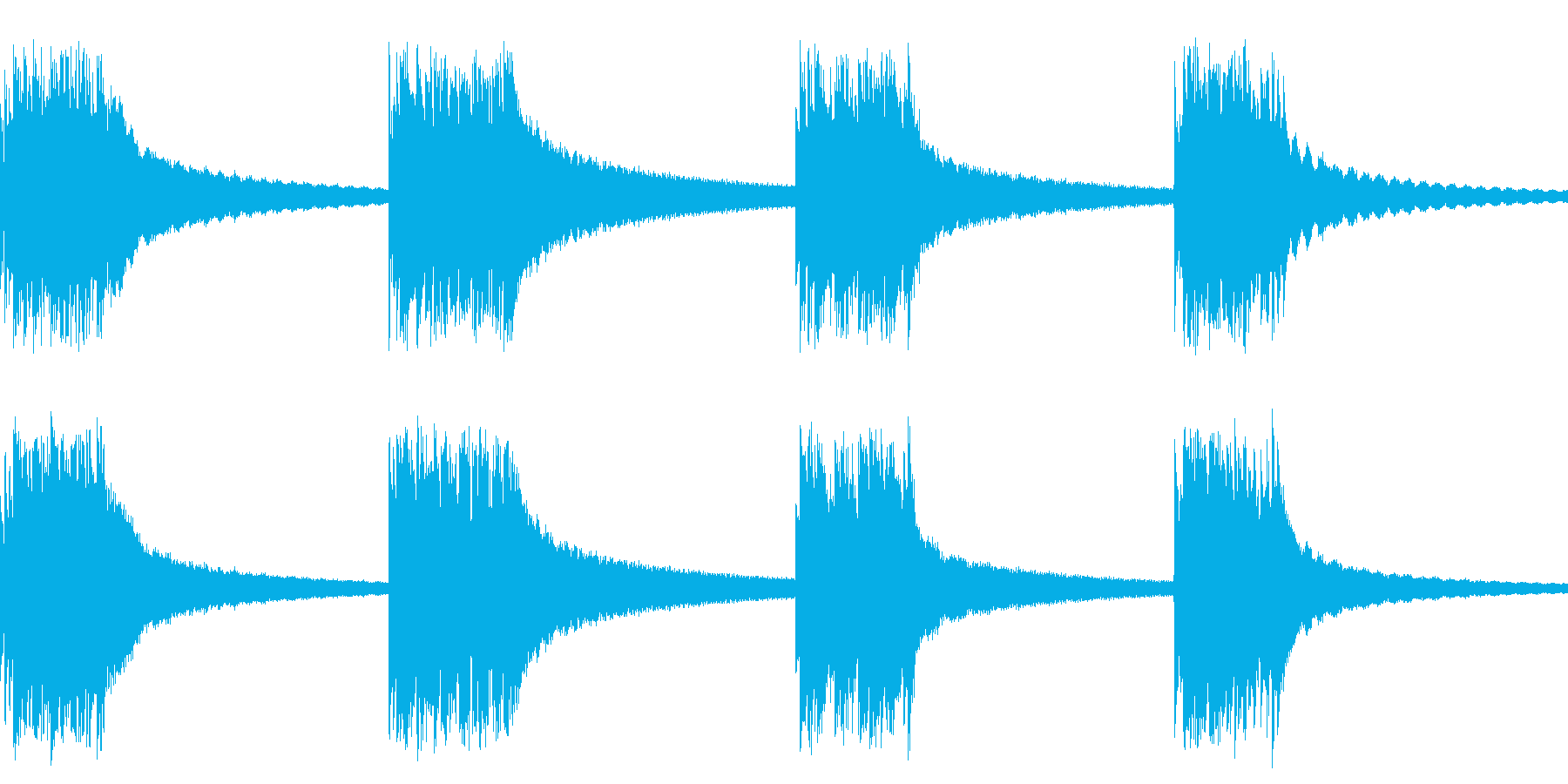 黒電話の着信音(ベルを連続で打ちつける)の再生済みの波形