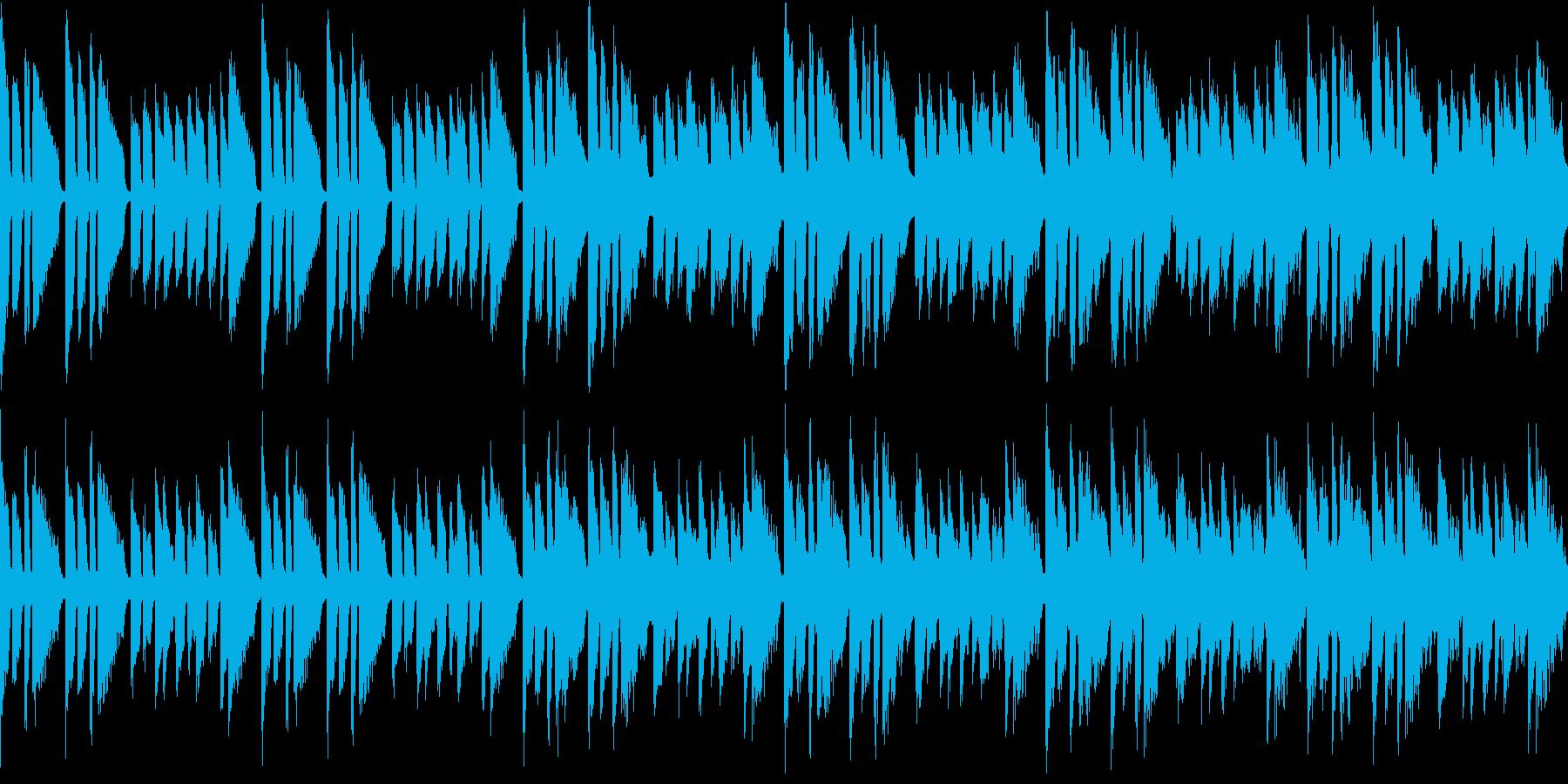 初めての挑戦みたいな曲(ループ仕様)の再生済みの波形