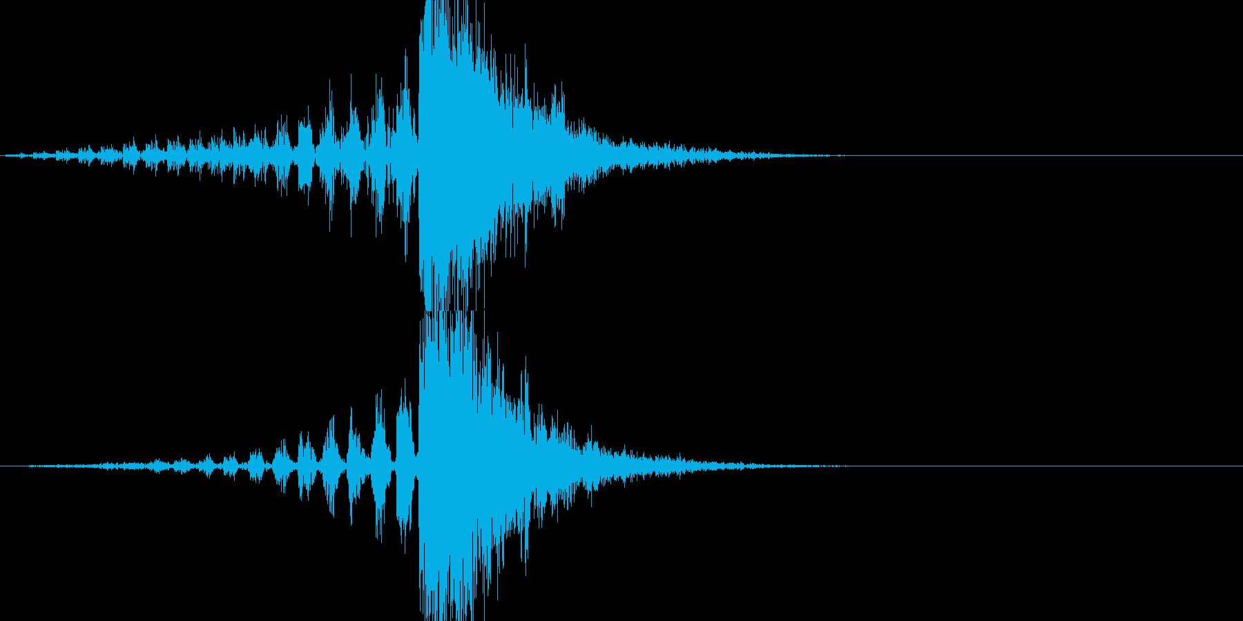 マトリックス的なスローになって動く音の再生済みの波形