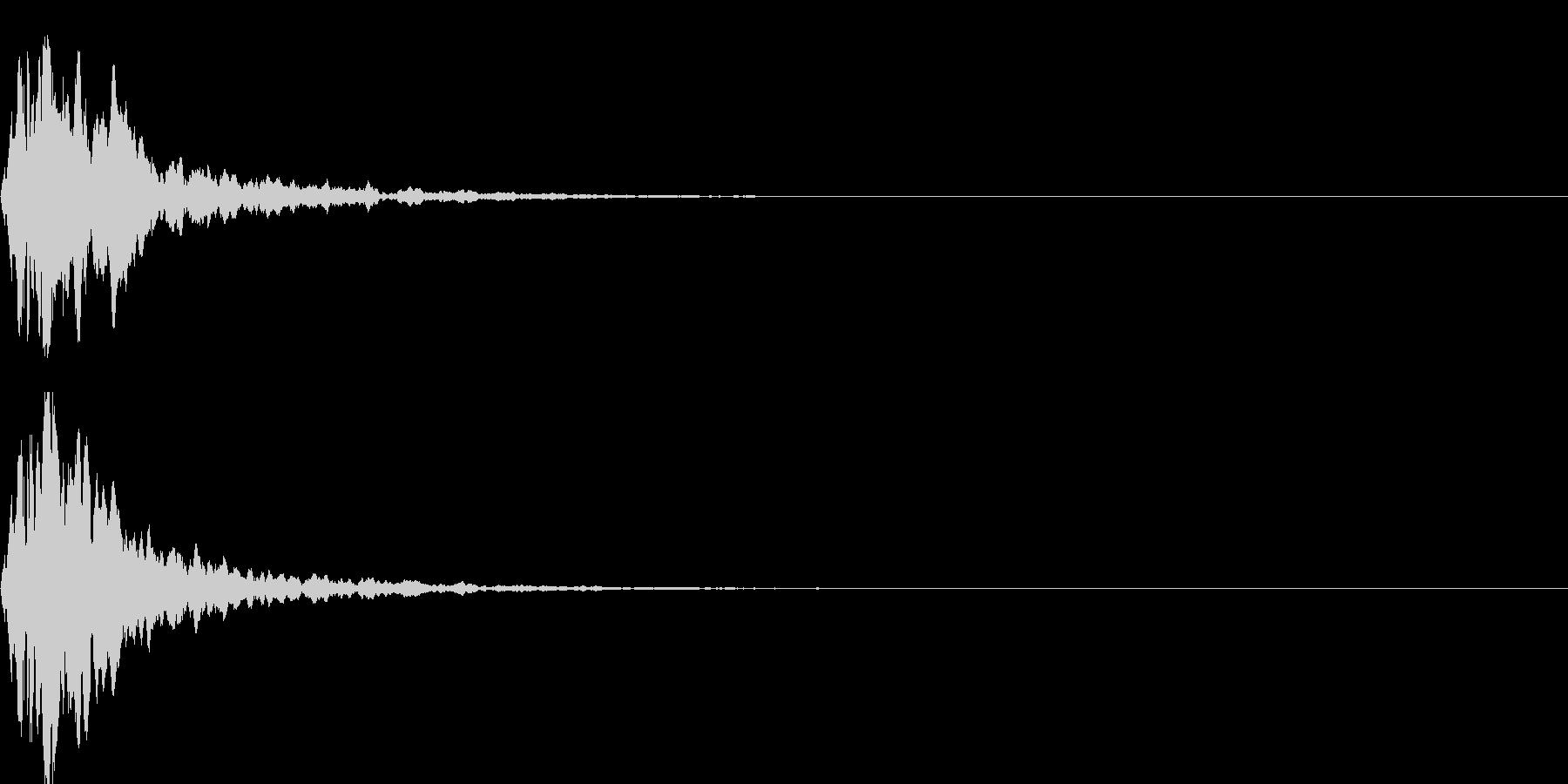 キャンセル音07の未再生の波形