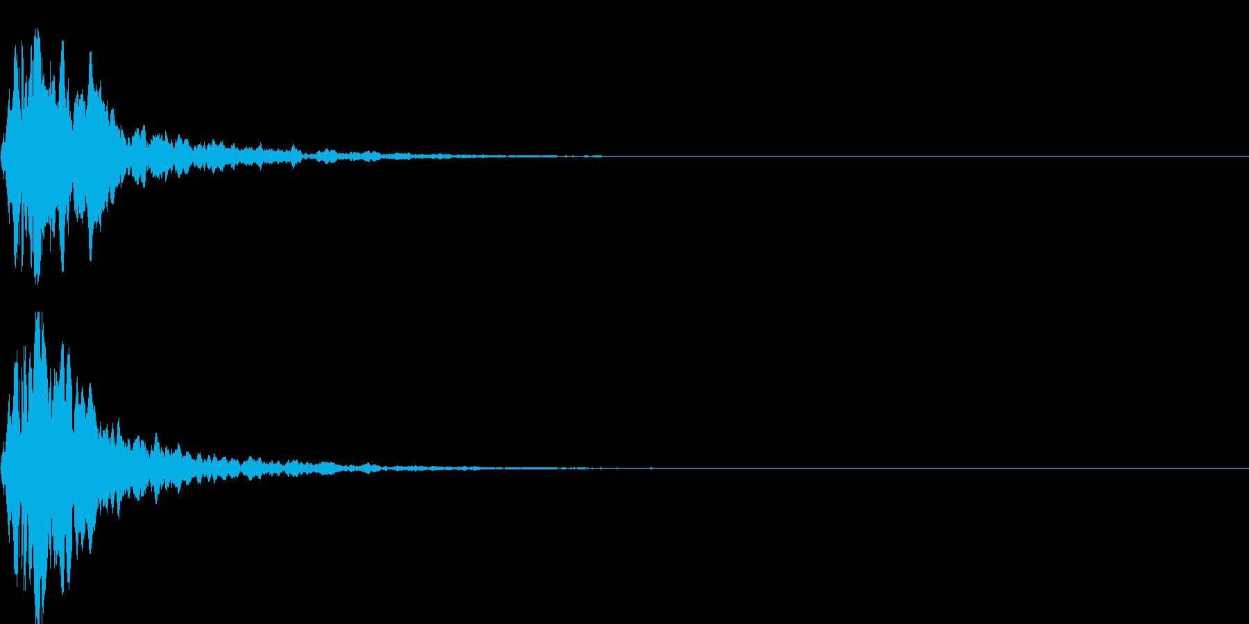 キャンセル音07の再生済みの波形