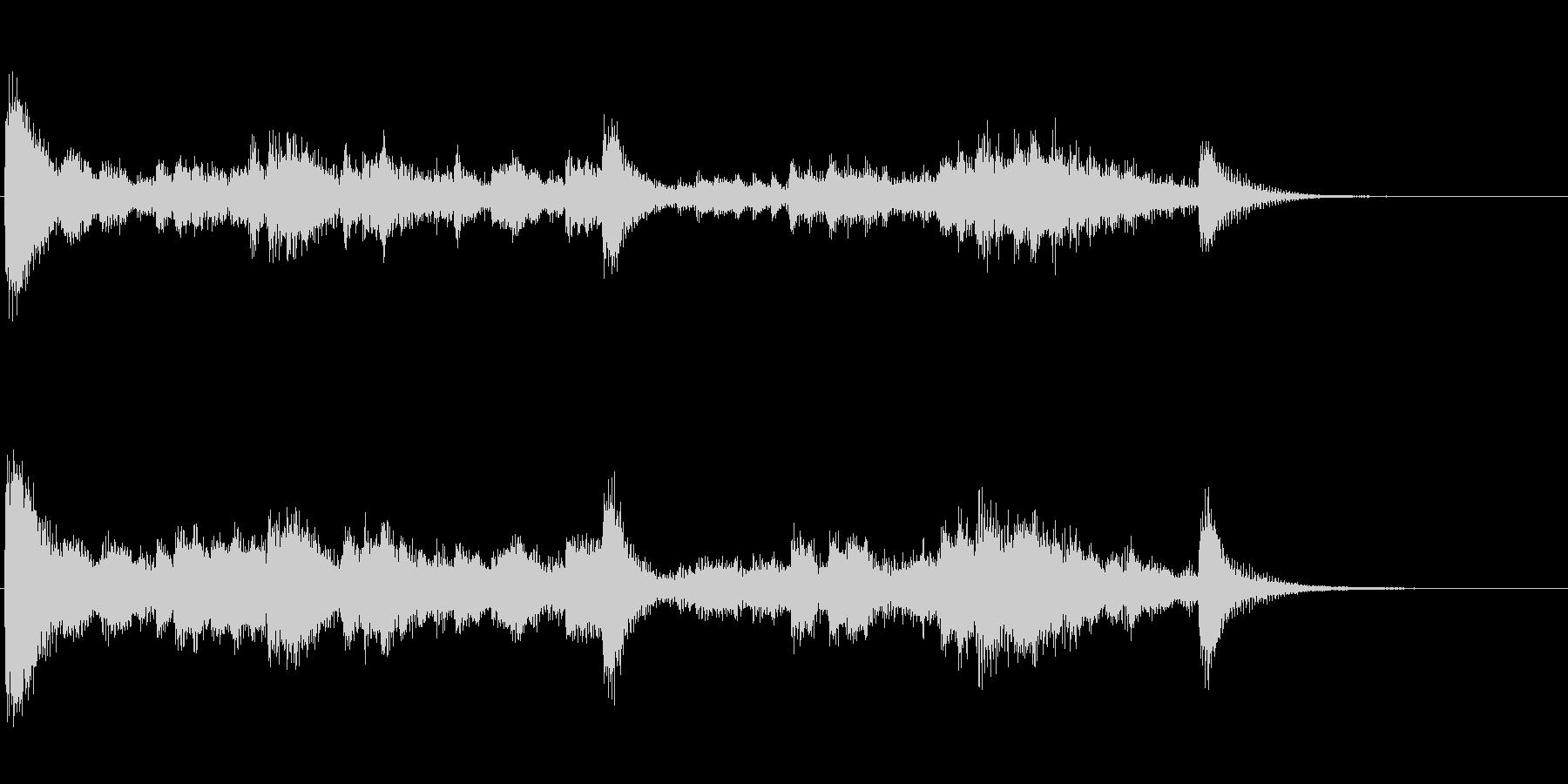 金属音のリズム刻み系アイキャッチ音の未再生の波形