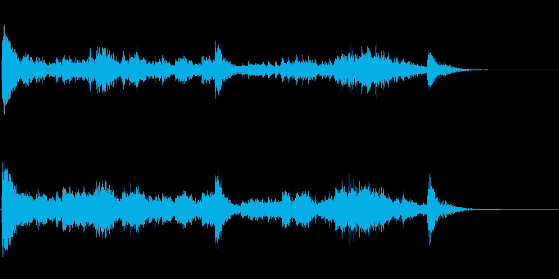 金属音のリズム刻み系アイキャッチ音の再生済みの波形