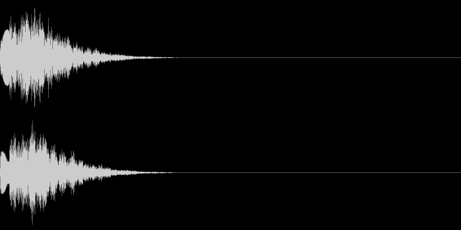 キラキラ/決定/テロップの未再生の波形