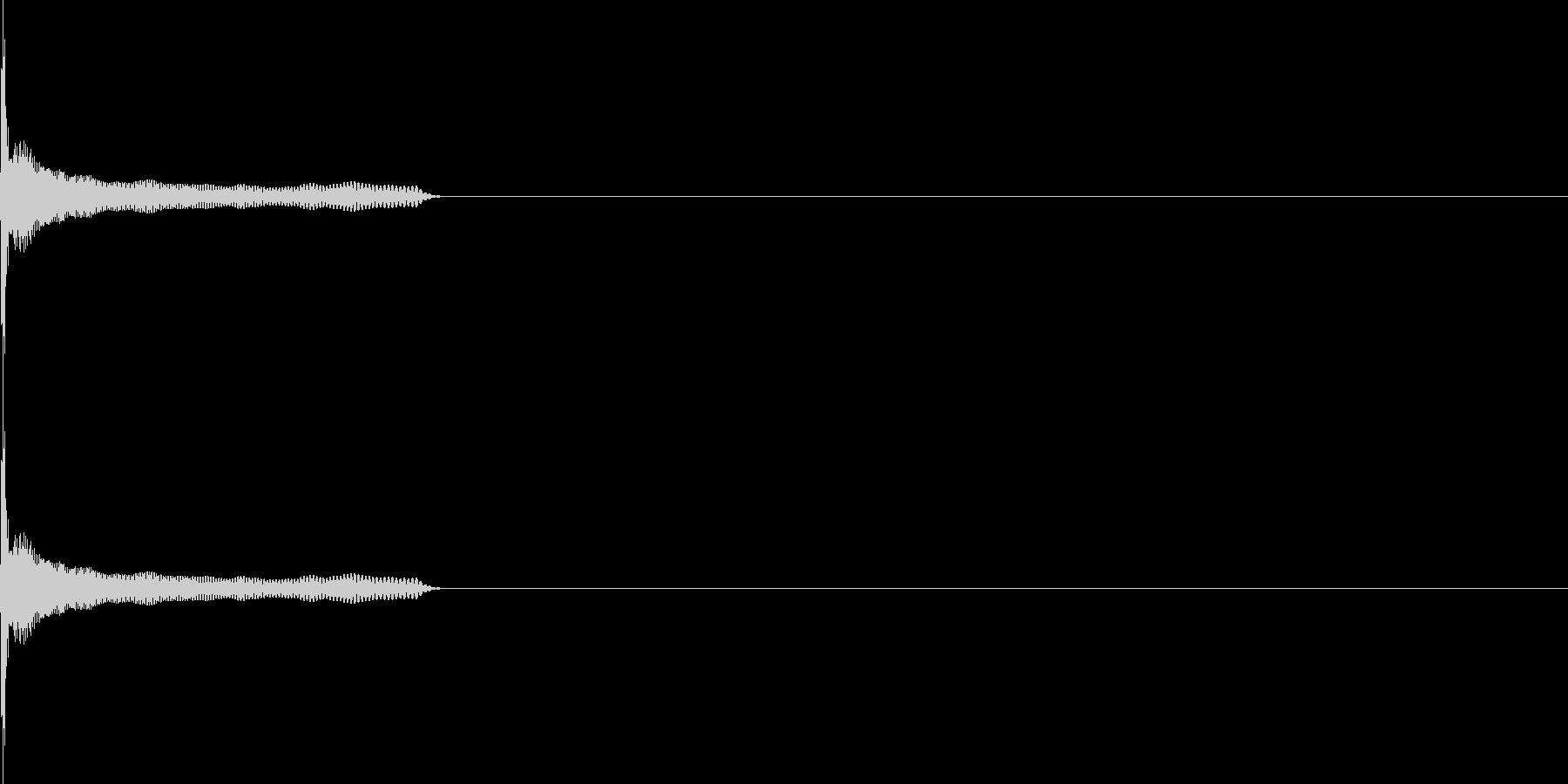 ポン(click_051_ボタン2)の未再生の波形