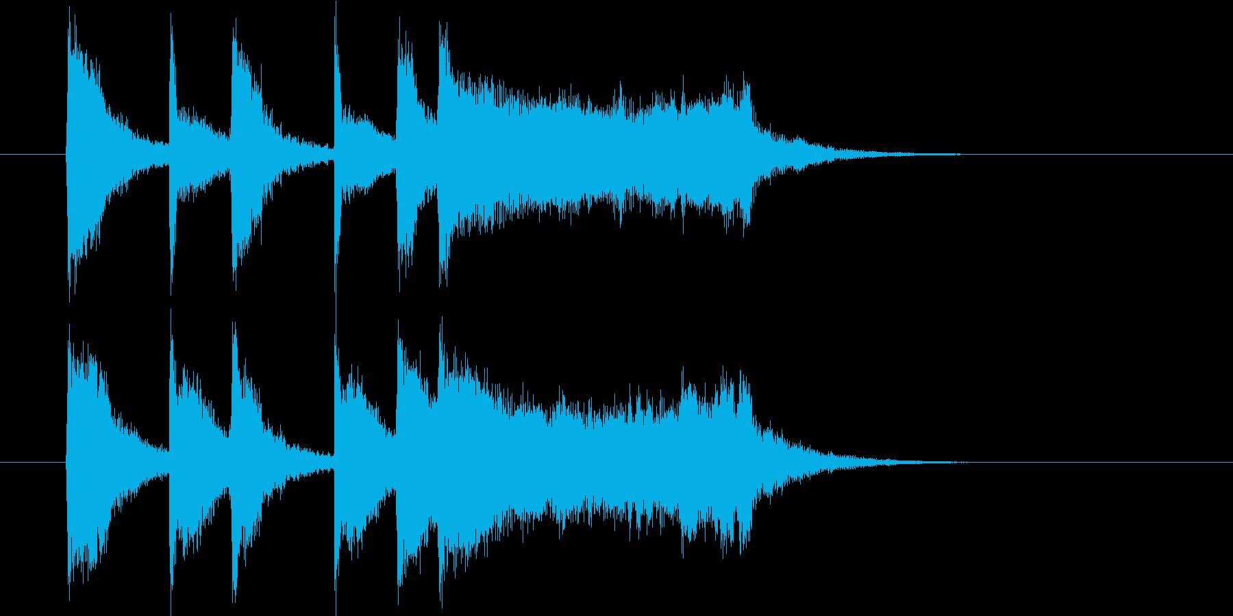 ゆっくり力強いシンセサウンド短めの再生済みの波形