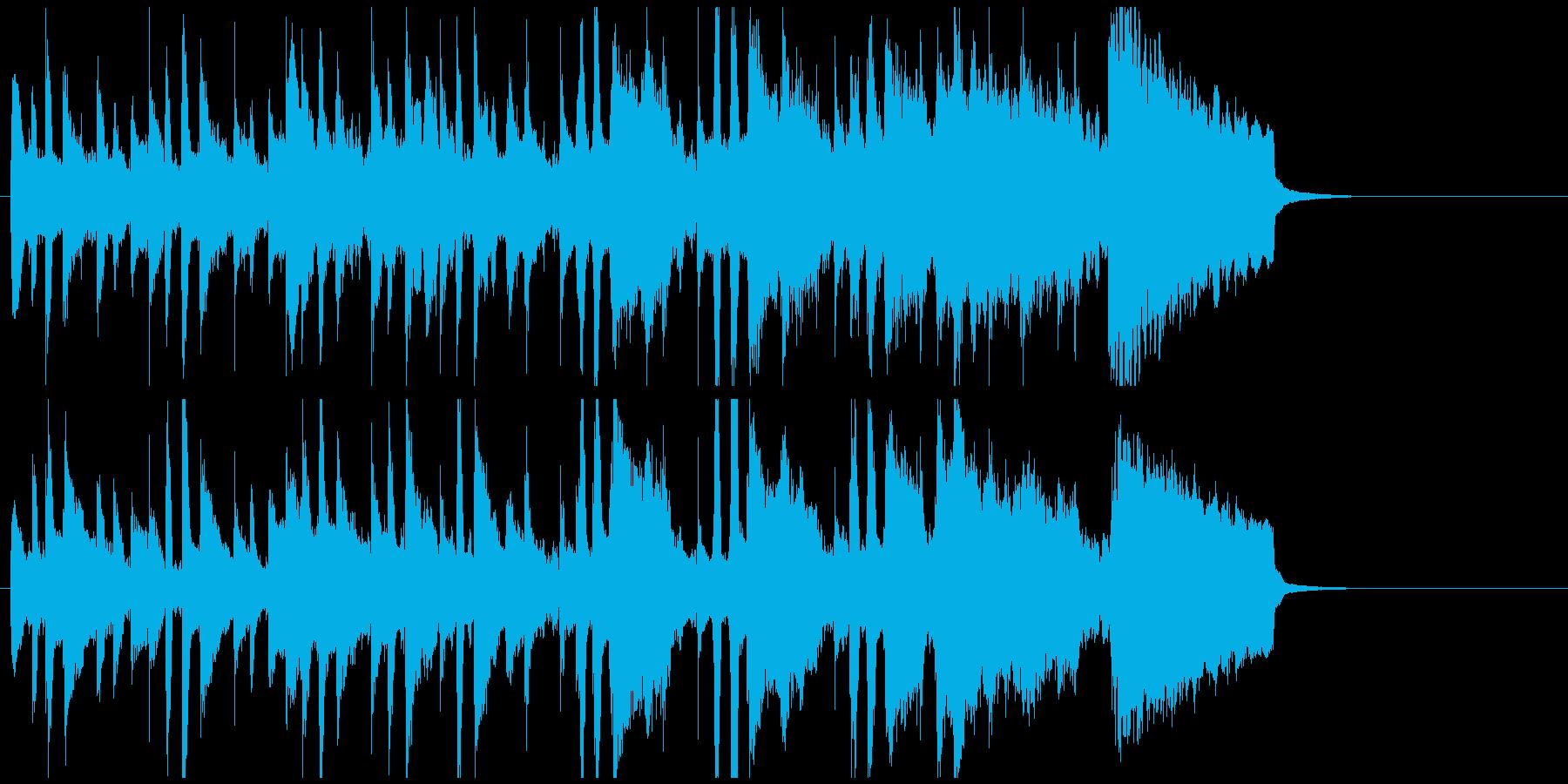 ジングル ほのぼのかわいい優しいポップの再生済みの波形