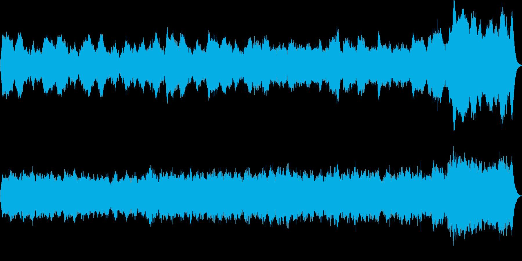 パイプオルガンの曲です。50秒 荘厳の再生済みの波形