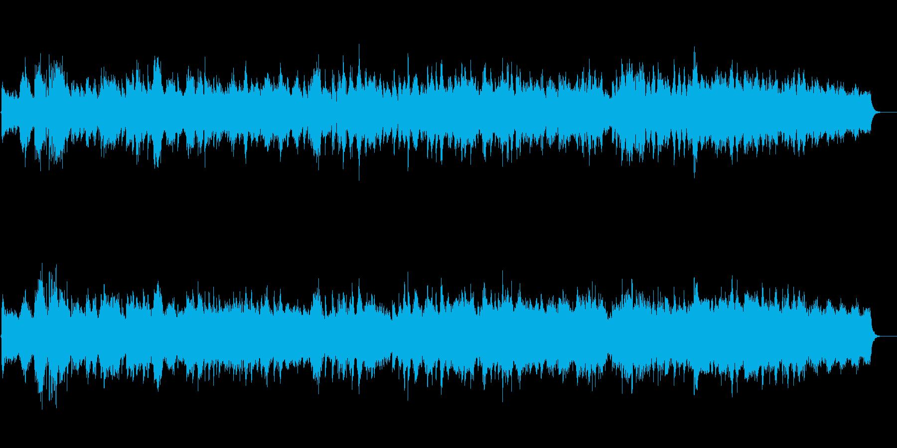 環境音楽(繊細で優雅な感じ)の再生済みの波形