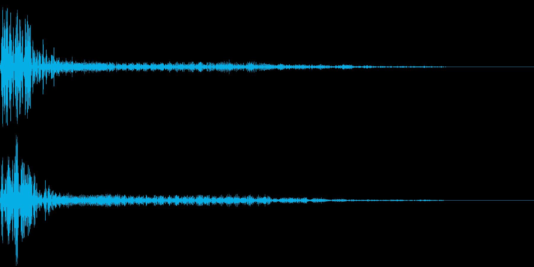 モンスターが近くにいる音 ドン!ワウーンの再生済みの波形
