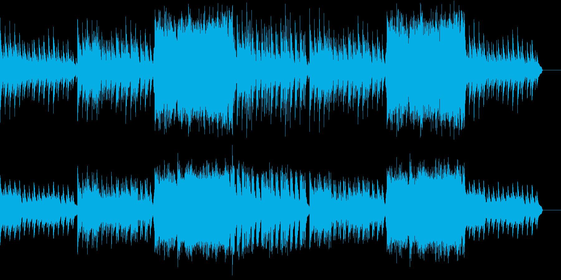 悩みや不安を表現している曲の再生済みの波形