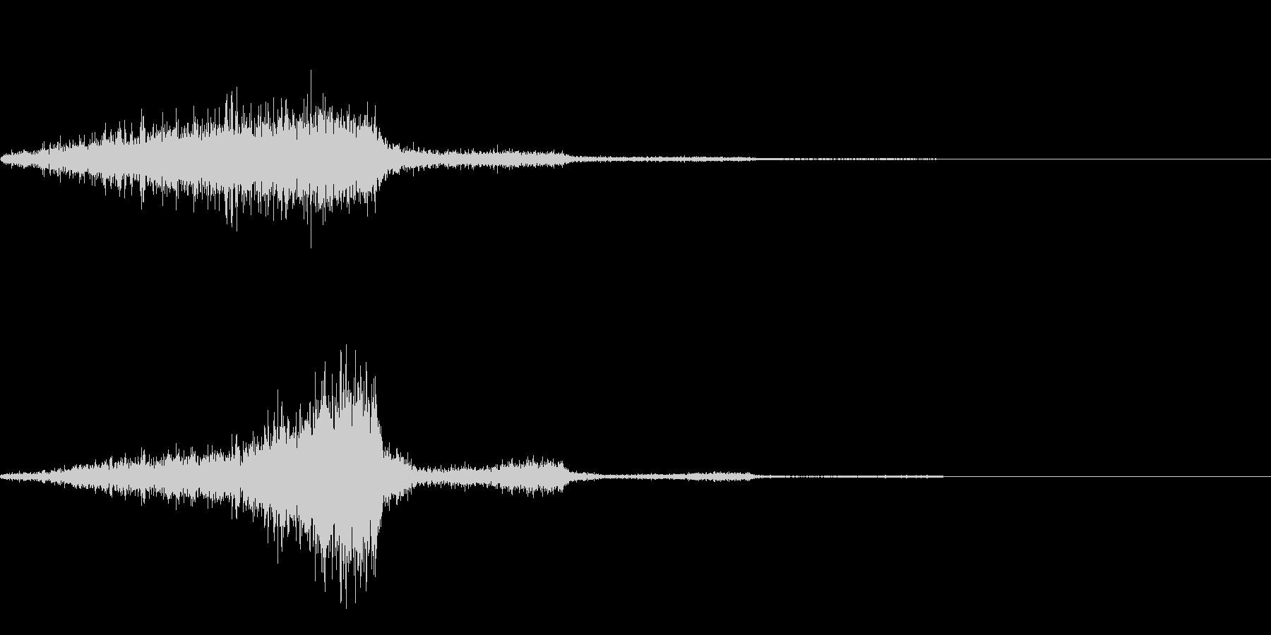 ヒュイ(キャンセル)の未再生の波形