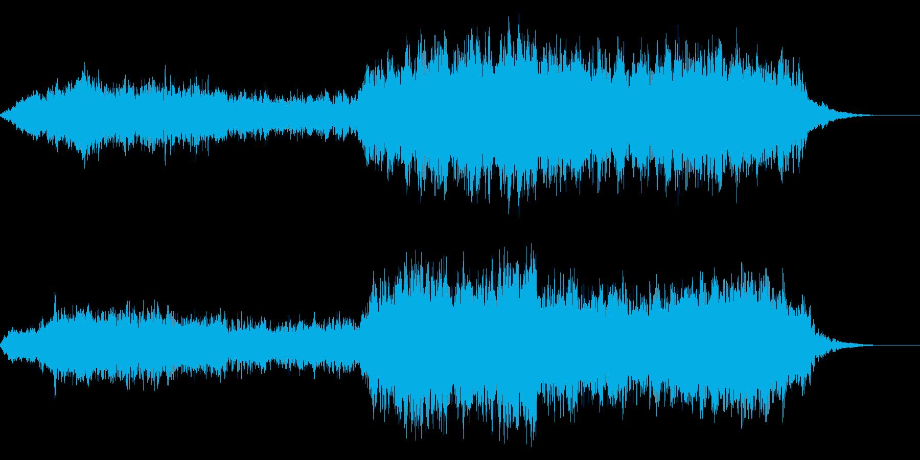 オープニング向けファンタジックなコーラスの再生済みの波形