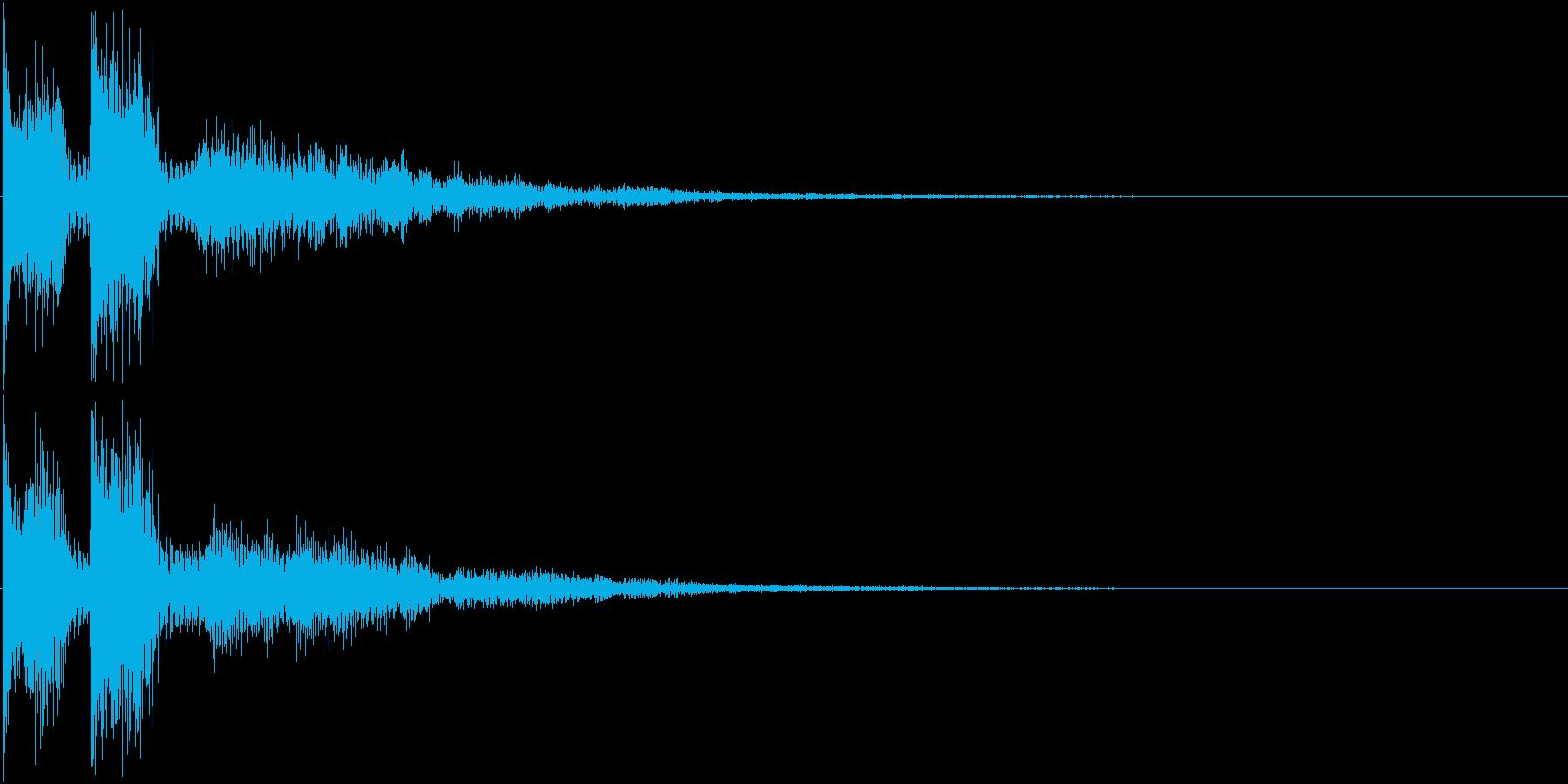 ピュピュン(決定音、アプリ、ゲーム等に)の再生済みの波形