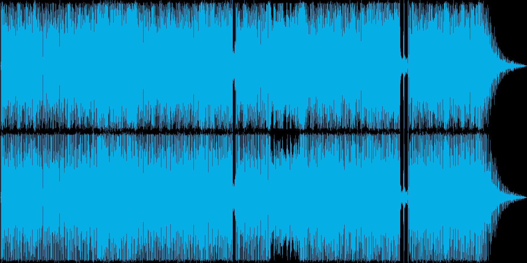スムースジャズ風のファンキーなナンバーの再生済みの波形