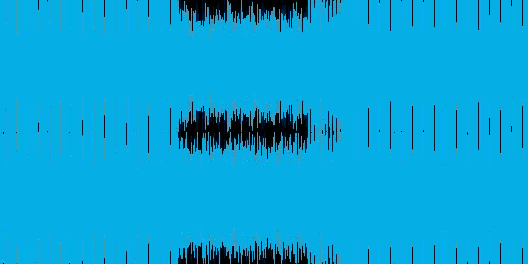 和風近未来なイメージのドラムンベースの再生済みの波形