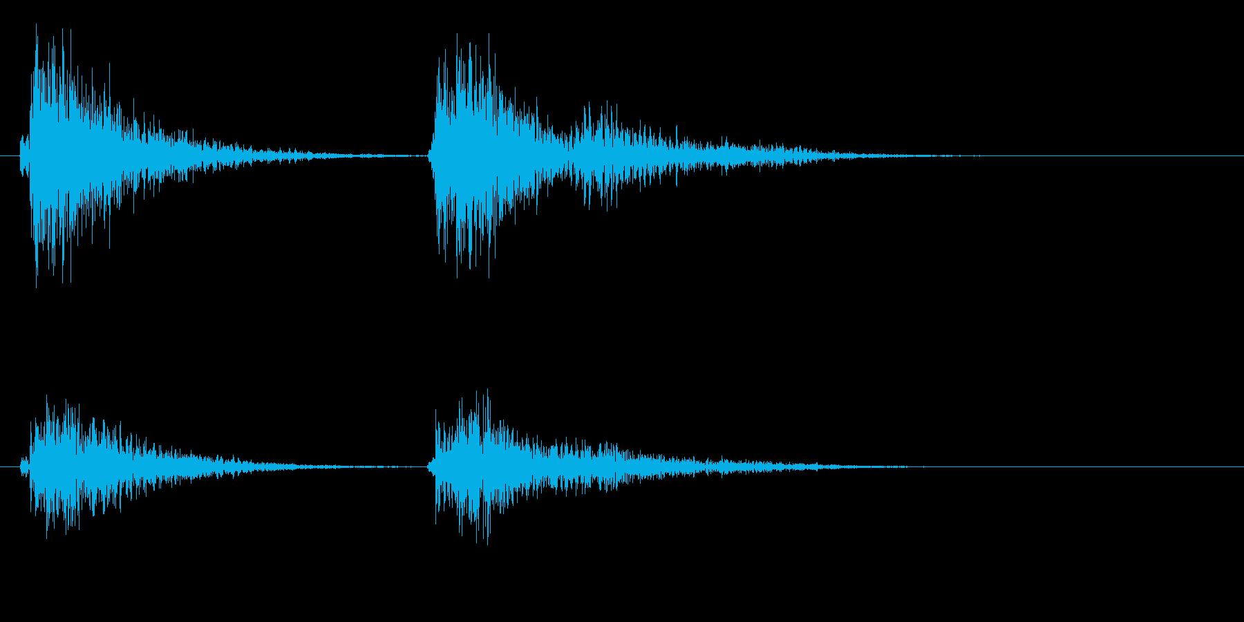 コテ(ドアの鍵をかけるときのような音)の再生済みの波形