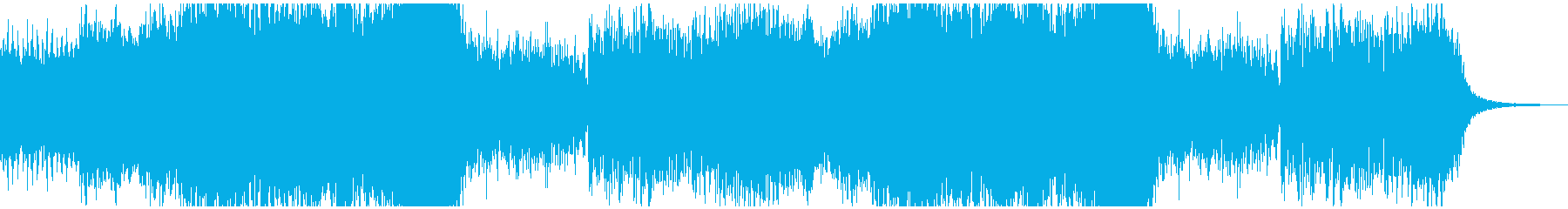 雪原をイメージした幻想的な楽曲の再生済みの波形