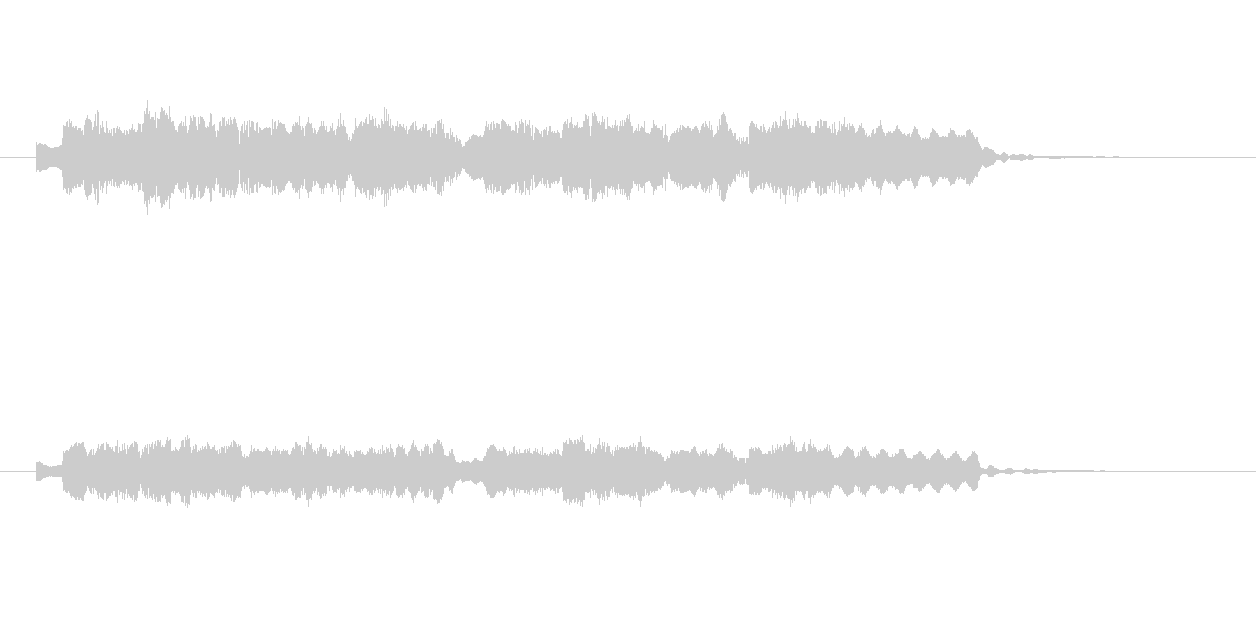 ノスタルジックで切ないシンセサウンドの未再生の波形