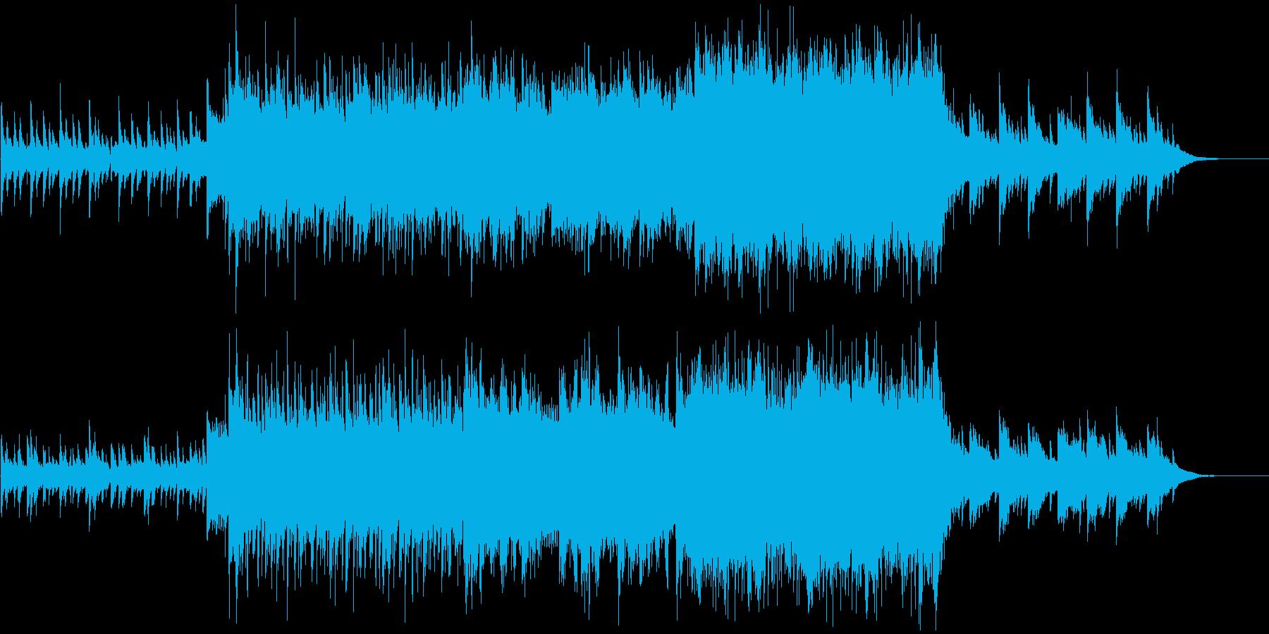 しっとりとした感動的なピアノバイオリン曲の再生済みの波形
