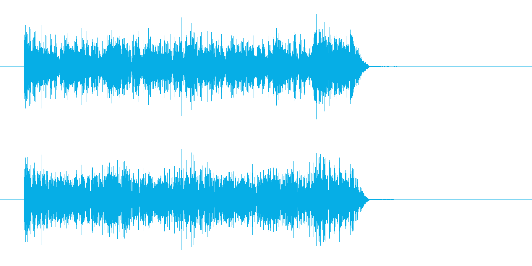 弾ける勢いのあるミュージックの再生済みの波形