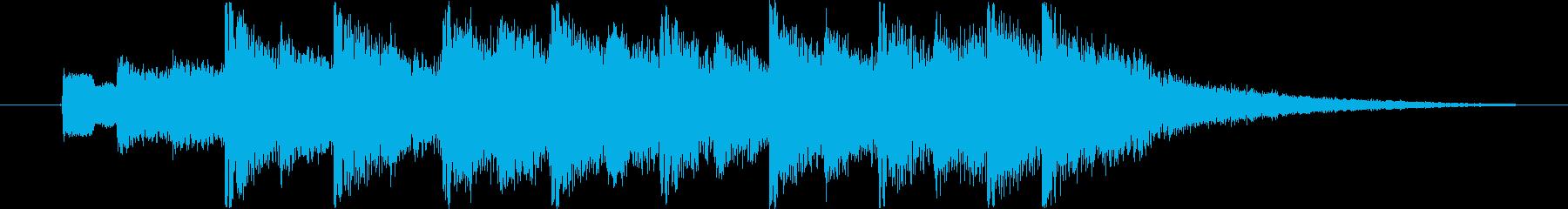 6秒ジングル用、さわやかなエレクトロの再生済みの波形