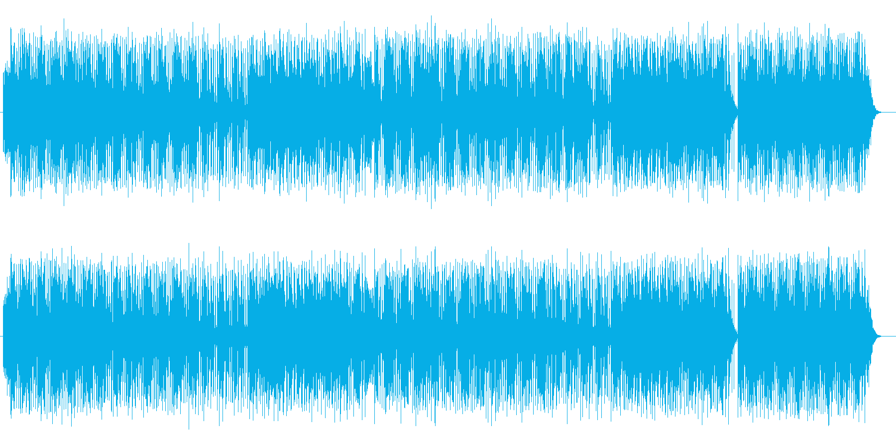 涼しげでおしゃれなシンセサイザーサウンドの再生済みの波形