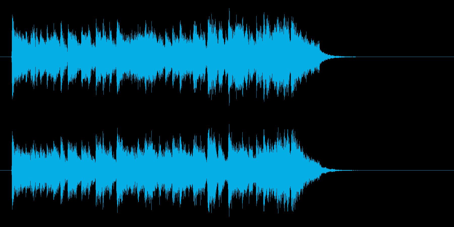 大人の軽快なフュージョン(サビ)の再生済みの波形