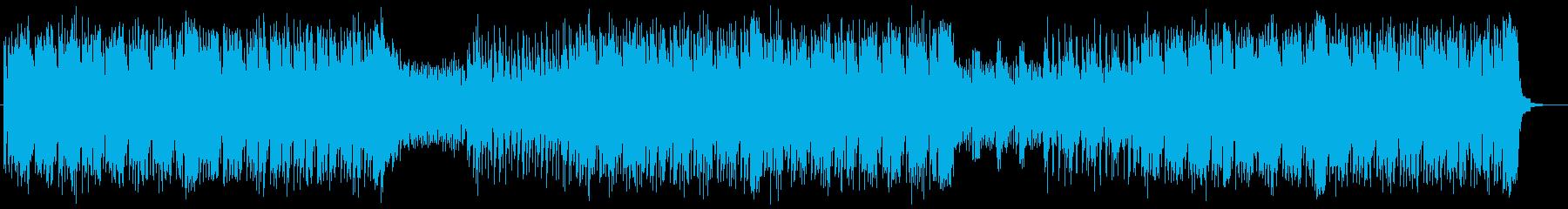 躍動感ある激しいロックの再生済みの波形