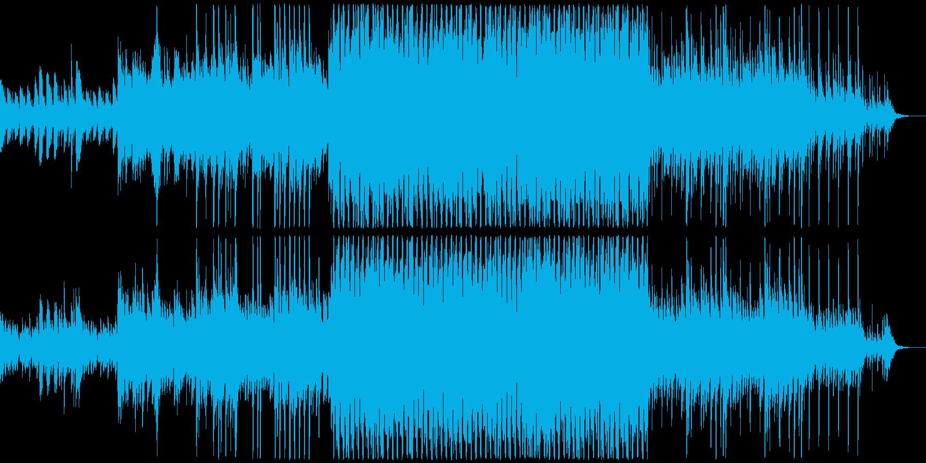 黒板とチョークのリズムにピアノの感動的曲の再生済みの波形