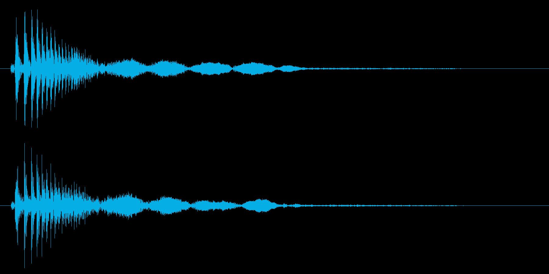 カンッ(タンバリンのような短い音)の再生済みの波形